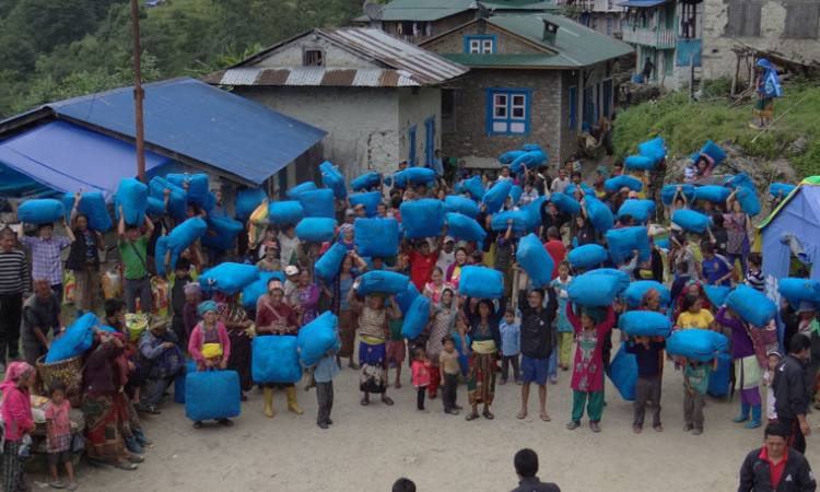 Earthquake Relief Fund-2015 at Thulodhunga
